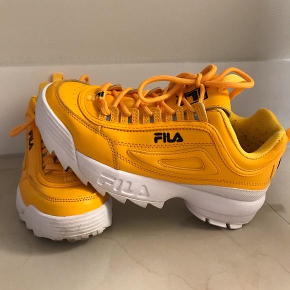 FILA DISRUPTOR 2 PREMIUM REPEAT yellow FREE Depop